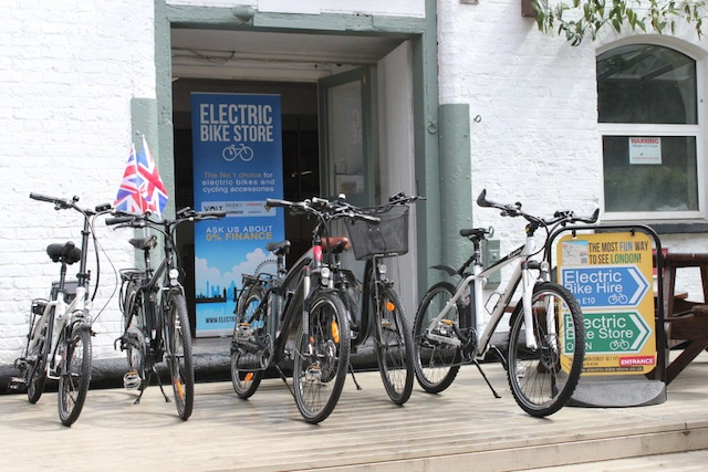 Electric bike store electric bike dealer by london bridge for Motorized bicycle shops near me