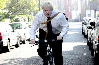 Boris on a Bike.